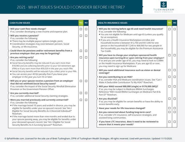 Retirement Planning Checklist 1